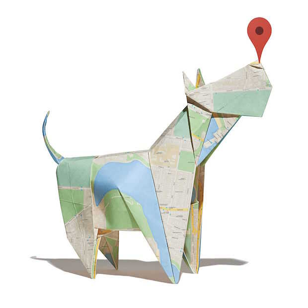 Echte kunstwerken van Google Maps plattegronden