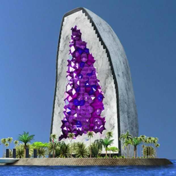 Dit hotel wordt gebouwd in de vorm van een mega grote edelsteen!