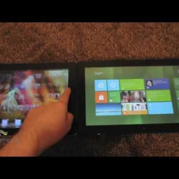 iPad iOS 5 vs Windows 8 Slate