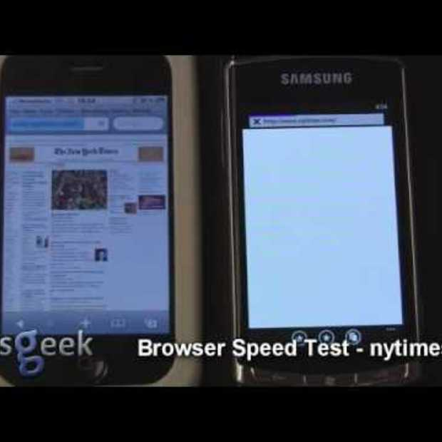 iPhone 3GS vs Windows Phone 7 - Browser Speed test
