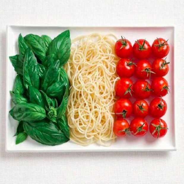 Eten in de vorm van de Nationale vlag!