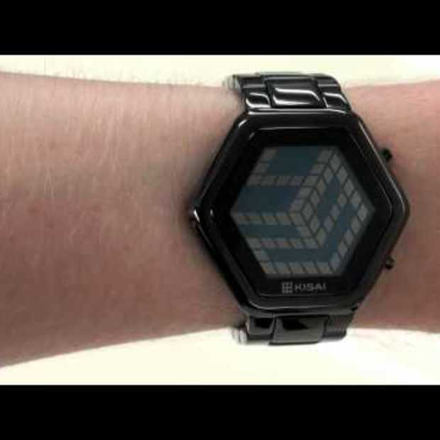 Kisai 3D Mirrored Colored LCD Watch Design