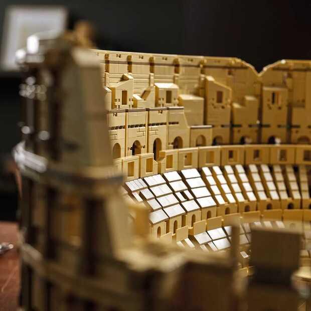Het Colosseum is een van de grootste LEGO modellen ooit
