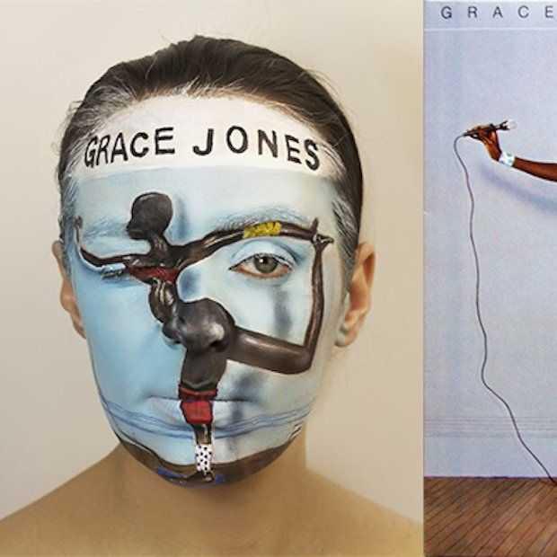 Deze gezichten zijn als bekende LP's geschilderd!