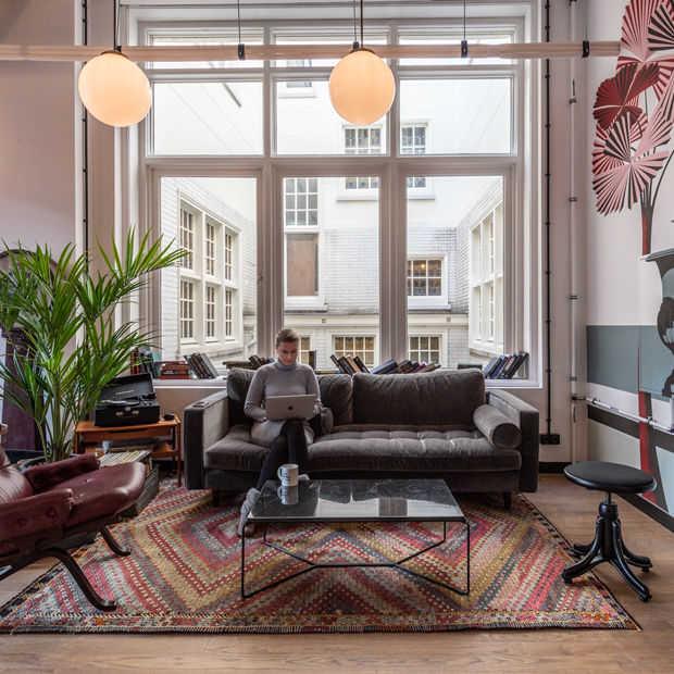 Flexwerken in een designkantoor