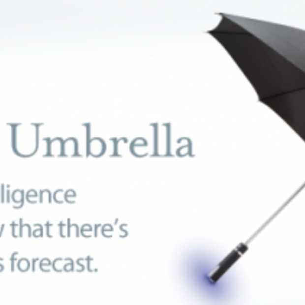 Nooit Meer je Paraplu vergeten met Ambient Umbrella