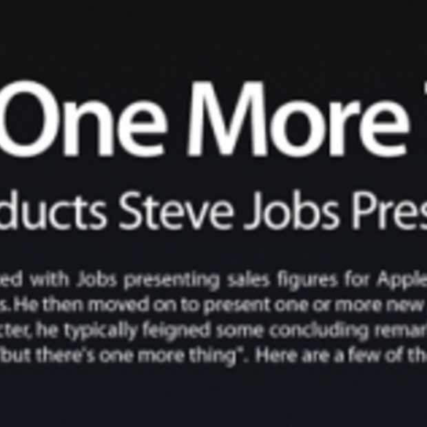 One More Thing by Steve Jobs