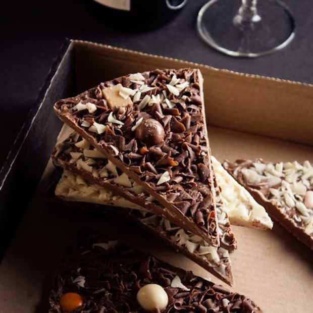 Deze pizza is gemaakt van chocolade