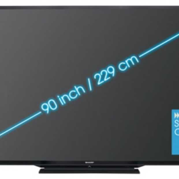 Sharp presenteert 90 inch 3D LED TV