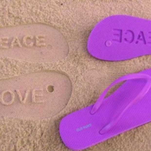 Slippers met een boodschap