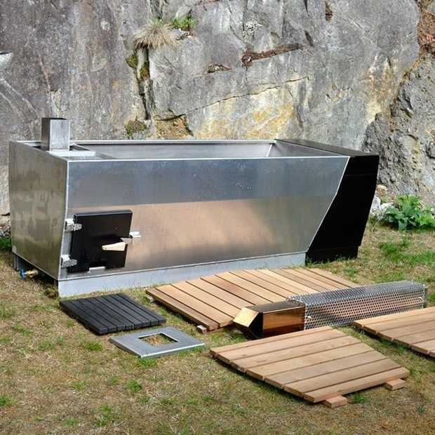 SOAK wood: hot tub en houtkachel in één
