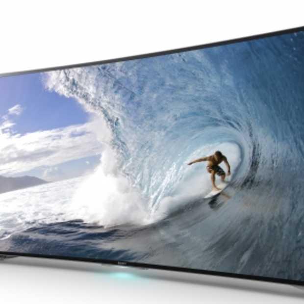 Sony introduceert curved 4K-tv met surround sound
