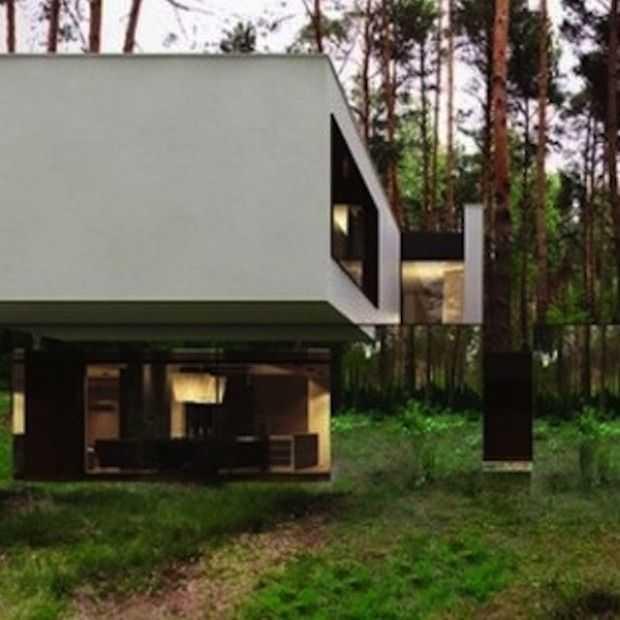 Dit huis is gemaakt met spiegels waardoor het lijkt of het zweeft!