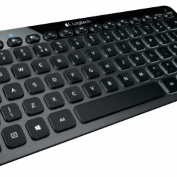 Stijlvol Logitech toetsenbord met geborsteld aluminium