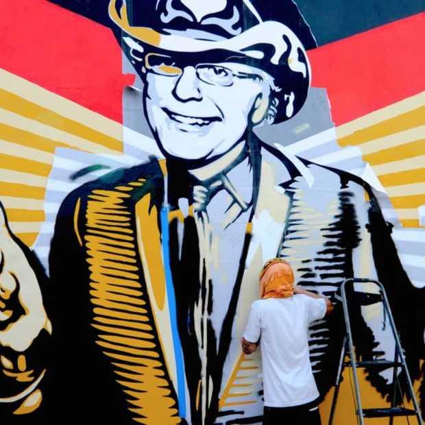 Deze gave street art maakt de buurt een stuk gezelliger