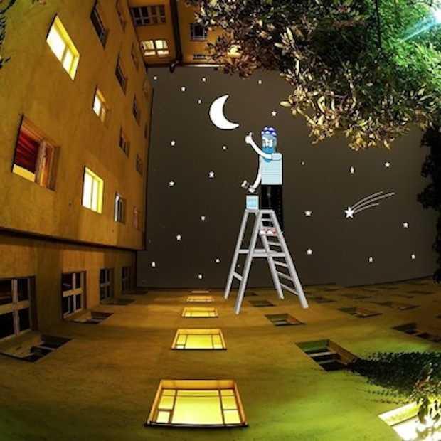 Gaaf: deze artiest maakt kunstwerken van de lucht tussen gebouwen!