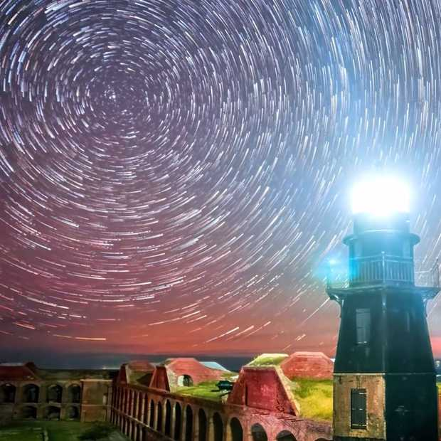Sensationele timelapse van de sterrenhemel van Key West