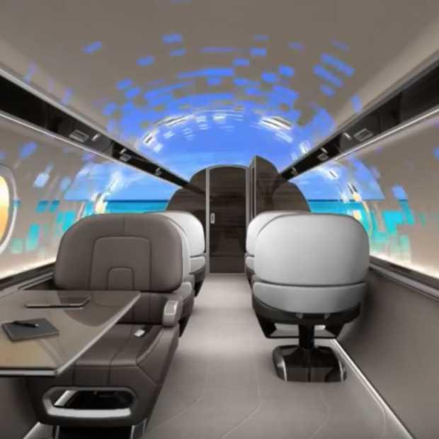 Dit vliegtuig van de toekomst heeft geen ramen!