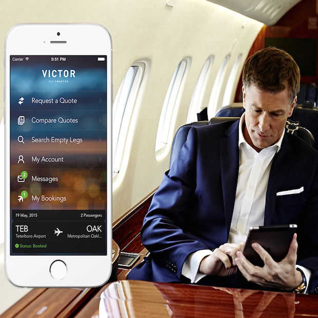Victor: de nieuwe Uber voor privéjets