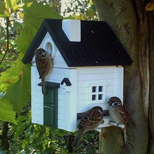 Deze vogelhuisjes zijn ware villa's