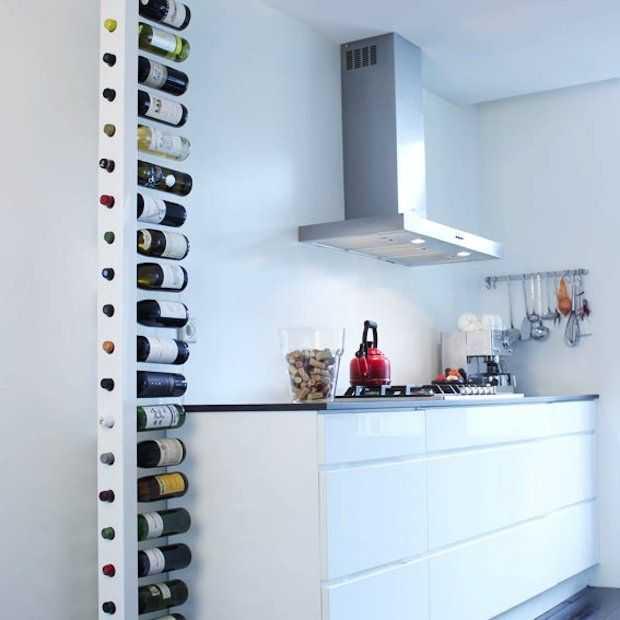 Origineel wijnrek voor maar liefst 22 flessen