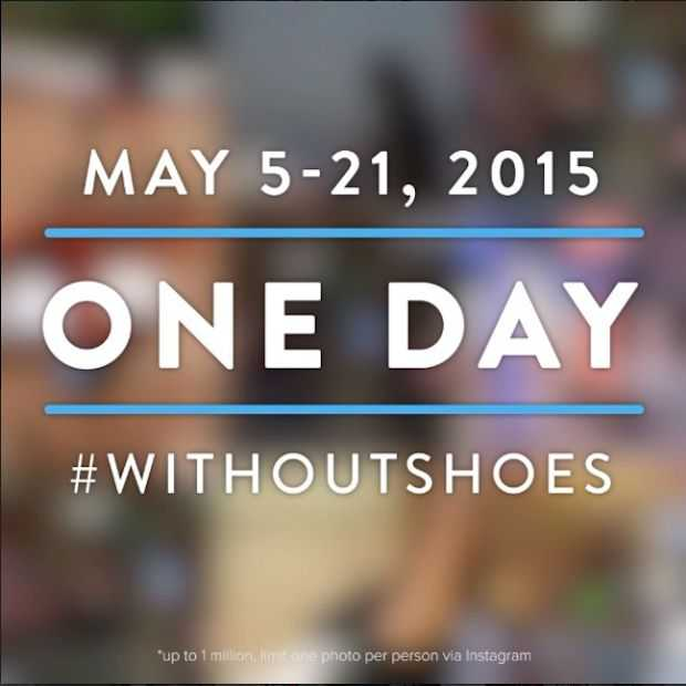 TOMS lanceert #withoutshoes campagne